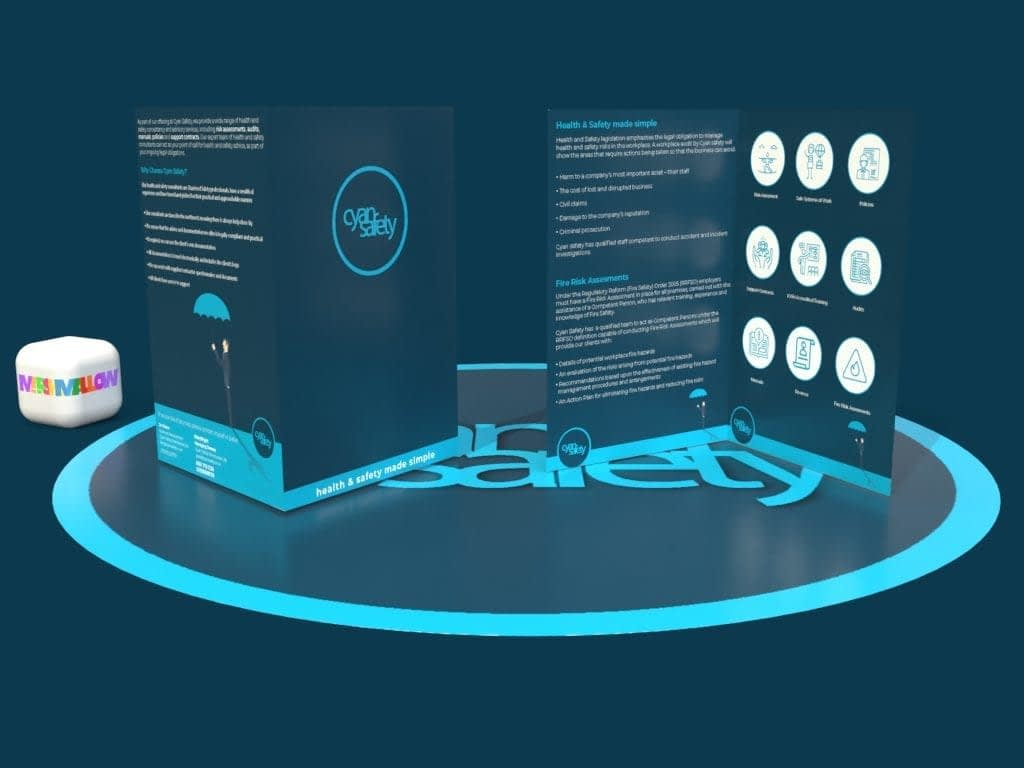 Cyan Safety Icon Brochure | Creative Design by Marshmallow Marketing