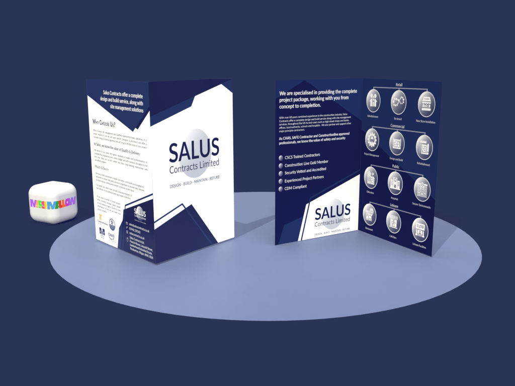 Salus Contracts Icon Brochure | Creative Design by Marshmallow Marketing