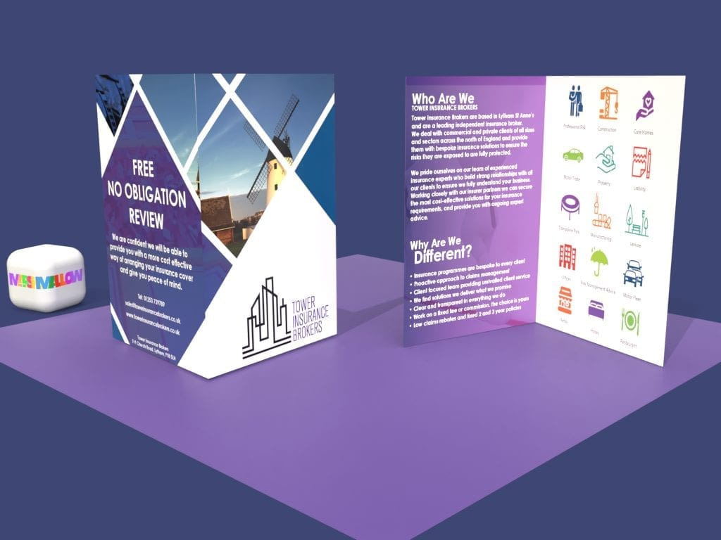 Tower Insurance Brokers Icon Brochure | Creative Design by Marshmallow Marketing